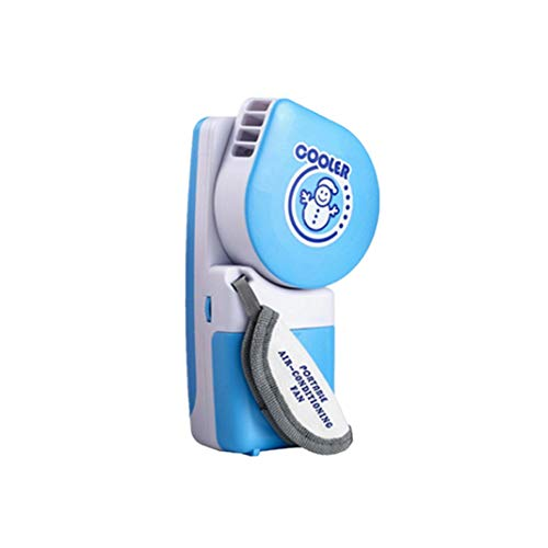 PINEsong Mini Tragbare Hand Held USB/Batterie Mini Klimaanlage Kühler Lüfter Luftkühler Mini Air Cooler Tragbarer Tischventilator USB Klimagerät für Büro, zu Hause, Camping (B)