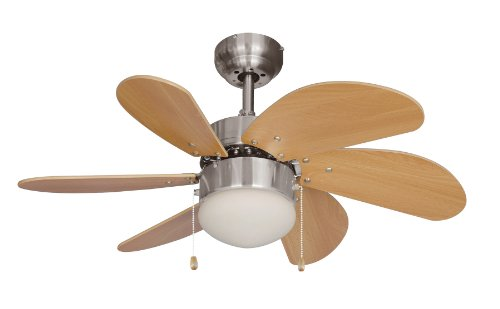 Hardware House 10-4852 Dual Mount Ceiling Fan - Best Six Blade Small Fan