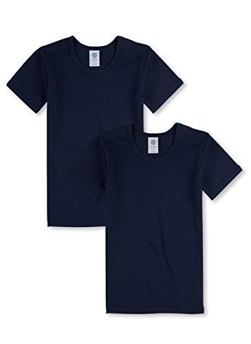 Sanetta Jungen T-Shirt halbarm im Doppelpack aus Bio-Baumwolle - Made in Europe - Neptun (50226), 92