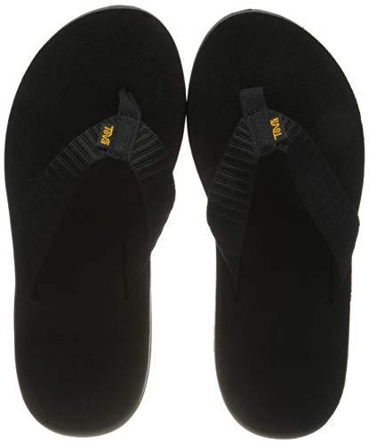 Teva Women's W Voya Flip Flop, bar Street Black, 10 M US