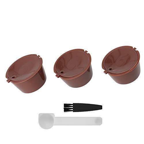 Akcesoria do ekspresu do kawy dobry efekt filtrowania kapsułka z kawą kapsułka z kawą wielokrotnego napełniania narzędzie kawiarniane do ekspresu do kawy Dolce Gusto(Brown)