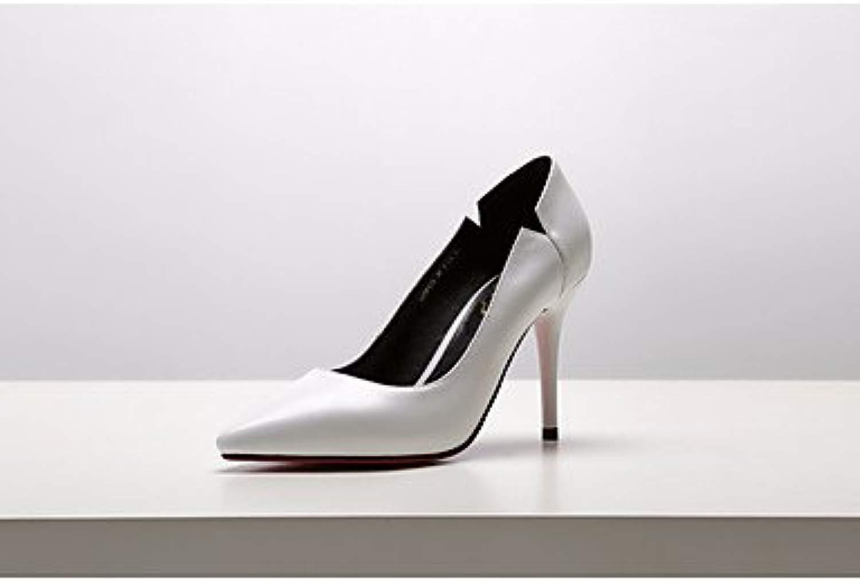 LvYuan-ggx Da donna Tac  PU (Poliuretano) Prima  Bianco Nero Piatto, bianca, us7.5   eu38   uk5.5   cn38
