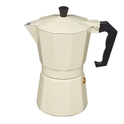 KitchenCraft Le'Xpress Italian Style 290ml Cream Espresso Coffee Maker, Aluminium