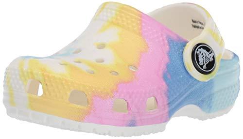 Crocs Zuecos clásicos para niños con teñido Anudado | Zapatos sin Cordones para niños y niñas, Pastel, 21 MX Niño pequeño