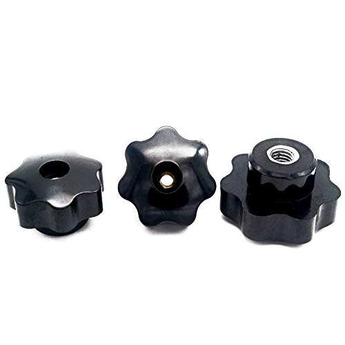 10Pcs M10 filetage femelle 32mm mont/é Dia Boule Levier Boutons Noir