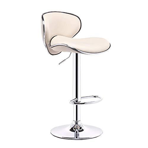 Barkruk opklapbaar, stoel verstelbaar met PU-leer, bureaustoel, zithoogte 24 inch