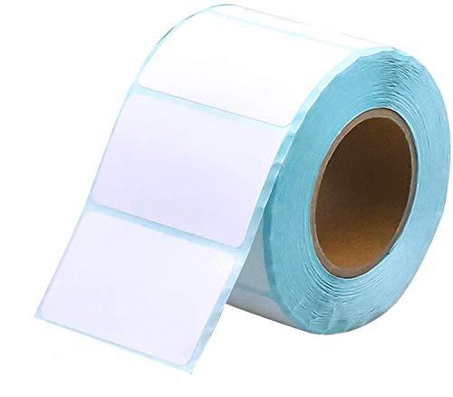 800 Stück Etiketten Selbstklebend Haushaltsetiketten Klebeetiketten Tiefkühletiketten Aufkleber Weiß für Büro Küche Marmelade, 5 x 3 cm Rechteckig