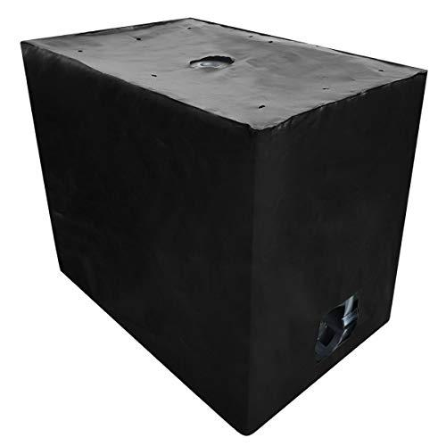 REKUBIK IBC Cover UV-Schutz Gewebe mit Klettverschluss in Schwarz Tankgröße 600l IBC (120x80x100cm)
