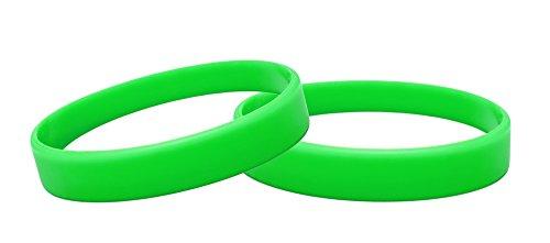 J&R 10, Silikon Armbänder, Händen Gummi Armbänder, Partyzubehör (Grün)