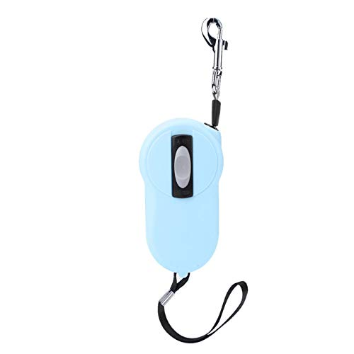 wosume Mini Automatic Telescopic Nylon Pet Leash, 1 STK. Nylon Reflective Tape Heavy Duty Pet Leash Einziehbare Hundeleine, Tangle Freed Lock für Katzentiere(Light Blue)