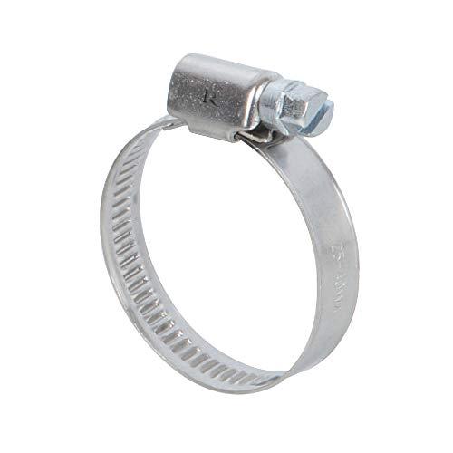 Ribiland 07373 Collier de Serrage INOX Argenté 70 à 90 mm 2 Pièces