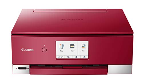 Canon TS8320 All In One Wireless Color Printer, Copier, Scanner, Home Inkjet Printerwith Mobile Printing, Red, Works with Alexa