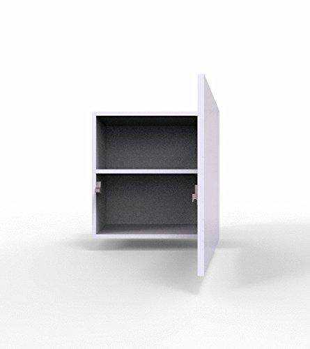 Wohnwand – Set mit Anbauwand in weiß mit Hängeschrank Bild 2*