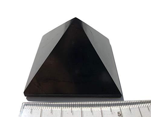 Pirámide de shungita, 5 x 5 cm, piedra curativa, pirámide de shungite