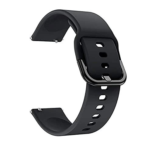 QULLOO Cinturino Compatibile per Samsung Galaxy Watch 3 45MM / Galaxy watch 4 44MM / Galaxy Watch 4 Classic 46MM /Huawei Watch GT2 Pro, Polsino Sostitutivo in Silicone Soft Regolabile Donne Uomini