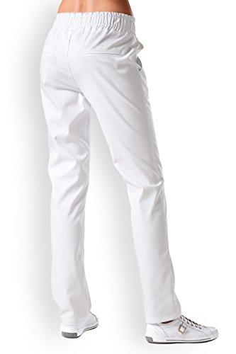 CLINIC DRESS Hose Schlupfhose Damen Rundumgummibund für Kliniken und Praxen 60 Grad Wäsche weiß 38