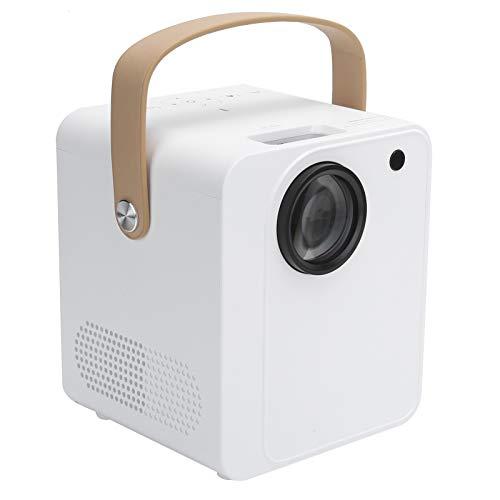 Goshyda Proyector doméstico, portátil 4K inalámbrico 1080P 100‑240V Proyector de vídeo de Cine en casa, para Dormitorio en casa, Oficina, Exterior(Enchufe de la UE)