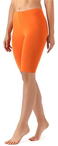 Merry Style Damen Kurze Leggings aus Viskose MS10-145 (Orange, M)