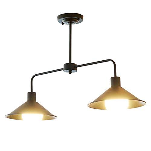 Vintage Vento del sector lámpara colgante lámpara de suspensión retro hierro redondo pantalla lámpara para salón cocina isla comedor bar pasillo Loft oficina plafón iluminación, negro