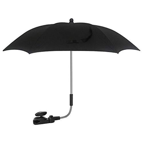 PrimeSportsShop - Parasol universal UV para cochecitos y cochecitos, paraguas con clip para cochecito de bebé, sombrilla con abrazadera de fijación ajustable