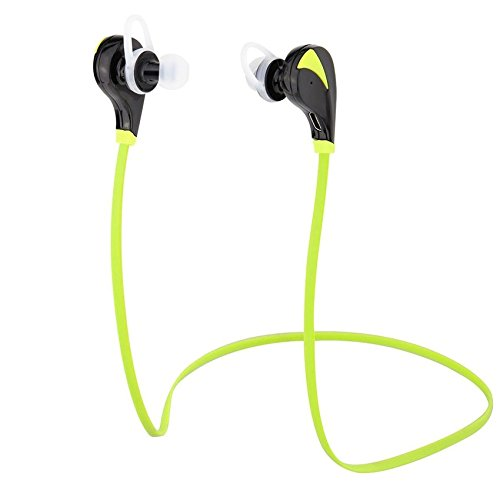 Bluetooth Wireless Headphones - Sweat Proof Earbuds Bluetooth 4.1 Headset with Built-in Microphone, Crystal Clear Sound & Noise Cancellation -Green- by Arche Tech