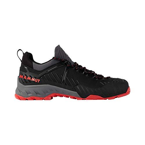 Mammut Herren Zapatilla ALNASCA Knit II Low Sneaker, Black/Spicy, 46 EU