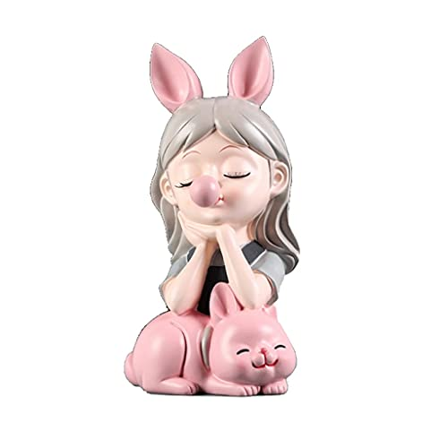 Creativity - Hucha De Resina para Niñas Y Lindo Gato, 11,4 X 5,5 X 6,4 Pulgadas, Banco De Dinero De Gran Tamaño con Tapón De Goma (Color : Piggy Bank B)