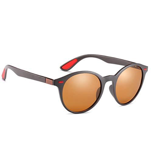 cheap4uk 1 par Gafas de Sol Redondas polarizadas Unisex Gafas de Sol de Lentes Redondas para Exteriores UV-400 para Carreras, Pesca, Montañismo, Senderismo Actividades al Aire Libre