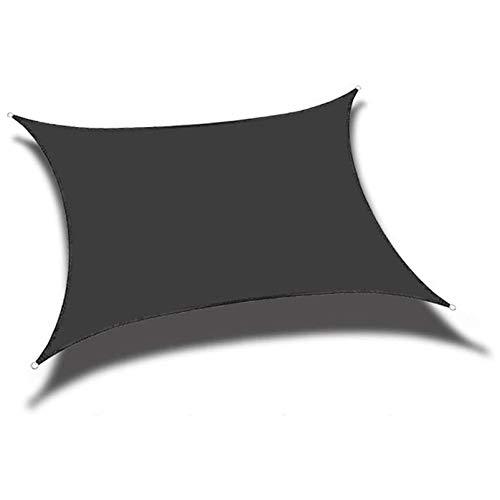 Toldo rectangular para patio, jardín, esquinas reforzadas, bordes y tela permeable (tamaño: 4 x 4 m, color: negro)