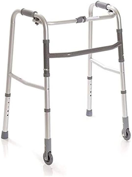 Deambulatore pieghevole, regolabile in altezza con 2 puntali e 2 ruote fisse anteamed 0739472285140