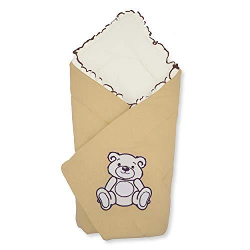BlueberryShop Jersey Baby Swaddle Wrap beddengoed deken | Slaapzak voor pasgeborenen | Bestemd voor kinderen 0-3 maanden | Perfect als baby douche cadeau | 78 x 78 cm | Bruin