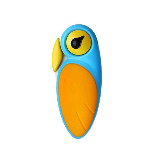 Obst Und Gemüse Keramik Klappmesser - Vogel Design - Food Design (Blau-Gelb)