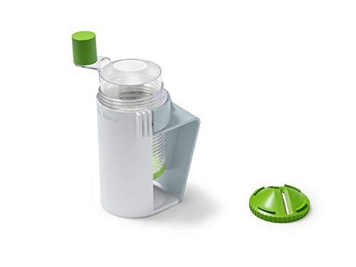 Betty Bossi Midi Spiralizer – Spiralschneider mit dem Sie komfortabel sämtliches Gemüse schneiden können und selbst als Kartoffel Spiralschneider geeignet ist