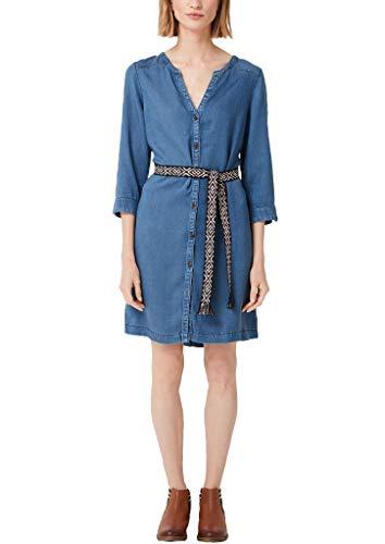 s.Oliver Damen 14.903.82.7277 Kleid, Blau (Blue Denim Non Stretch 56y4), (Herstellergröße: 34)