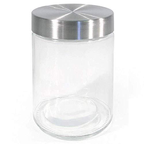 Tarro con de Vidrio Usmascot Botes para Alimentos Vidrio Alto de Borosilicato Cilindro Herm/ético Almacenamiento de Alimentos Envase Frasco Tapa de Bamb/ú /& Anillo de Sellado de Silicona 500ml