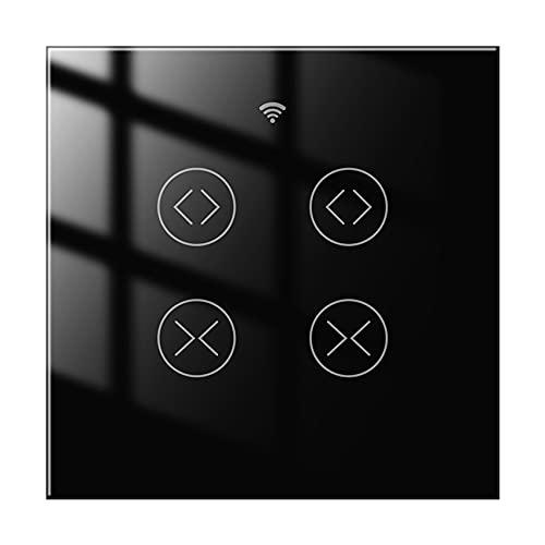 Varadyle Interruptor De Cortina WiFi De 2 VíAs Para Tuya Life Para Persiana Enrollable Motor EléCtrico Home Alexa Control De Voz (A)