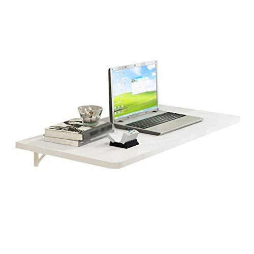 XXZDZ- Mesa Plegable de Hoja abatible de MDF, Mesa de Pared Blanca para computadora, Mesa de Cocina y…