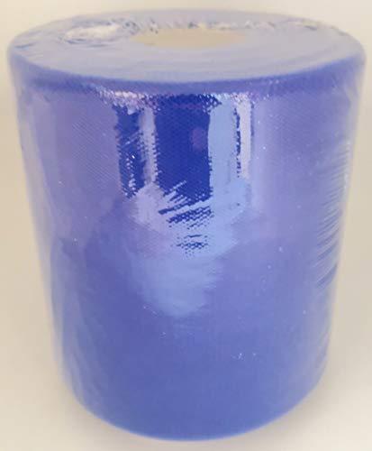 TULLE LARGHEZZA 12,5 CM BOBINA ROTOLO DA 100 METRI COLORE (Blu Royal) T125