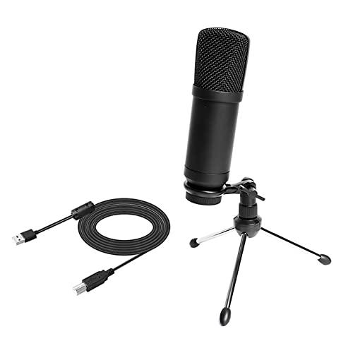 tyui Micrófono, Use PC Computer Podcast Condensador Condensador cardioide cardioide Soporte para Grabar y Cantar, micrófono Condensador con trípode Stand micrófono en Vivo