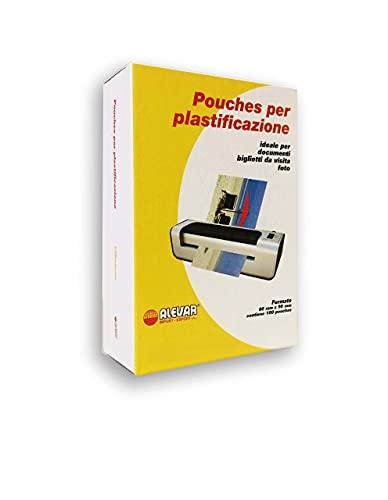 Pouches per Plastificazione, formato Biglietti da Visita, 60 x 90 mm, 250 Mic, Confezione da 100 Pz