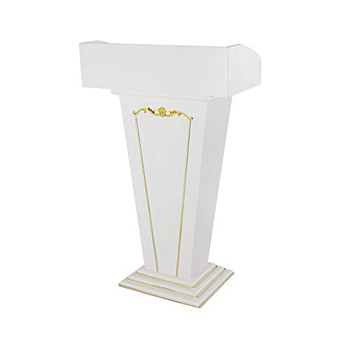 TnSok Stehendes Podium Standholz Katheder Mit Storage Area Pedestal Großer Basis Speaking (Color : White, Size : 68x35x111cm)