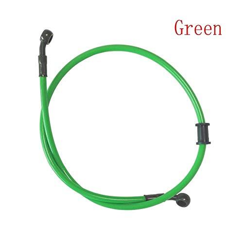 Bremsflüssigkeitsschlauch Motorrad-Schmutz-Fahrrad-Stahlflexhydraulikkupplungs-Ölschlauch Verstärkung Brems line Rohr-Rohr 500 Universal-Fit MX 1500mm Motorradkupplung (Color : Green, Size : 80cm)