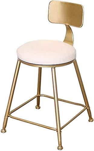Sgabelli Da Bar Girevoli Regolabili Sgabelli da bar sgabelli da cena Sgabelli da bar in ecopelle Sgabelli da bar imbottiti con schienale da appoggio da bancone con gambe dorate, metallo / finitura in