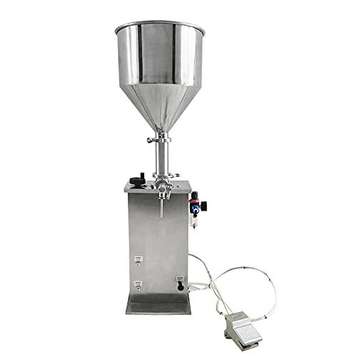Máquina llenadora de pasta líquida neumática de 5-120ml, Máquina llenadora manual de botellas, Máquina llenadora de acero inoxidable, CE / FCC