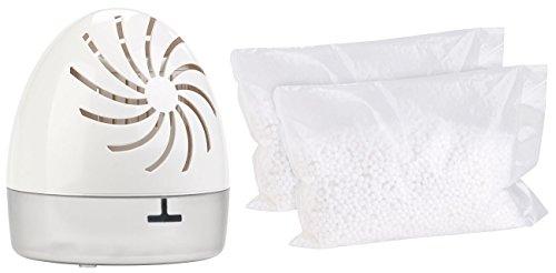 Sichler Haushaltsgeräte Luftentfeuchter Box: Raumentfeuchter mit 2 Granulat-Packs, bis 100 ml/Tag, Räume bis 10 qm (Nachfüllbarer Luftentfeuchter)