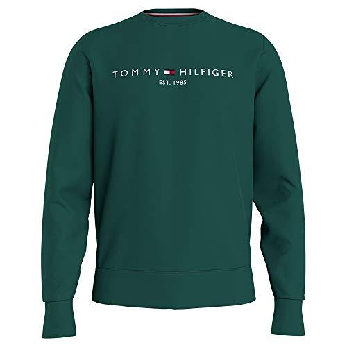 Tommy Hilfiger Tommy Logo Sweatshirt Felpa con Cappuccio, Verde Rurale, XL Uomo