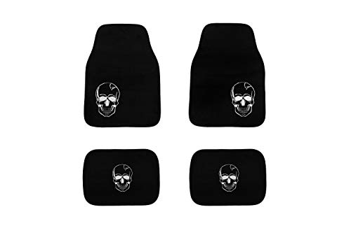 JOM 20698 Fußmatten mit Skull Totenkopf Motiv, 4-teilig