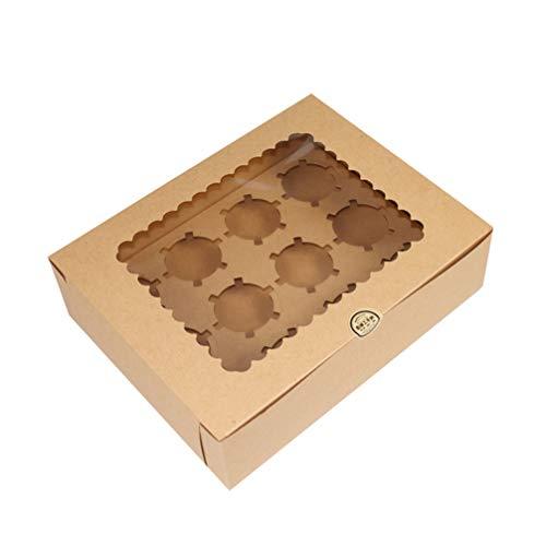 Hemoton Muffins Caja de Ventana Cupcakes Display Container Chocolate Macaron Cookie Bakery...