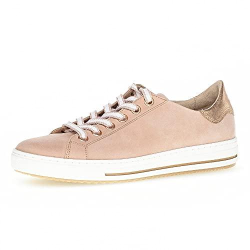 Gabor Damen Halbschuhe, Frauen Sneaker Low,lose Einlage,Moderate Mehrweite (G),rosa/rame,39 EU / 6 UK