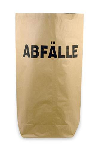 Hypafol Bio Papier Müllbeutel | abbaubare braune Biomüllbeutel für kompostierbare & biologische Abfälle und mehr | ohne Plastik | 2-lagig, Tüten mit 70 L Fassungsvermögen | 550x850+200 mm, 50 Stück